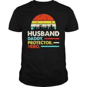 Husband daddy protector hero vintage sunset shirt