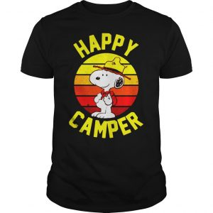 Peanuts Snoopy happy camper vintage shirt Shirt
