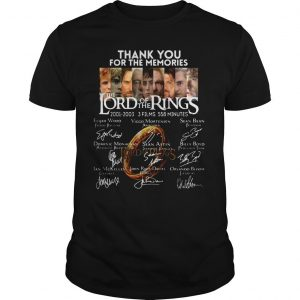Thank You For The Memories The Lord Of The Rings shirt