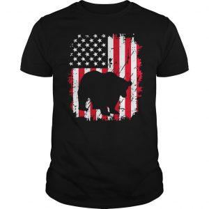 Vintage American Flag 4th Of July Patriotic Panda Bear Shirt Shirt