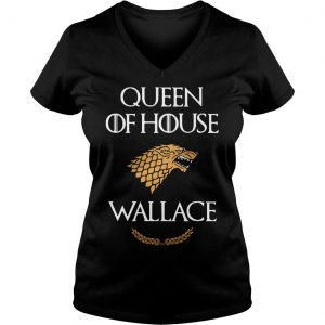 Queen house wallace game thrones v neck tshirt Ladies V-Neck