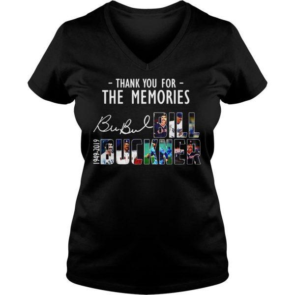 Thank you for the memories Bubul Bill Buckner 1949 2019 shirt Ladies V-Neck