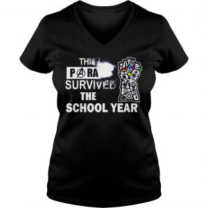 This Paraprofessional Avengers survived the school year shirt Ladies V-Neck