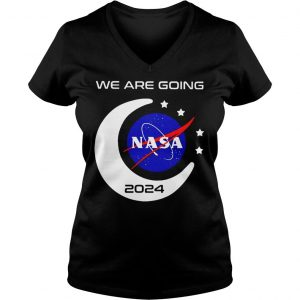 We Are Going To Moon 2024 Nasa Shirt Ladies V-Neck