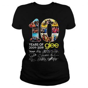 10 years of Glee 2009 2019 shirt Classic Ladies Tee