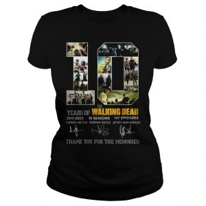 10 years of The Walking Dead thank you for the memories shirt Classic Ladies Tee