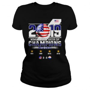 2019 WOMENS WORLD SOCCER CUP CHAMPIONS UNITED STATES 20 SHIRT Classic Ladies Tee