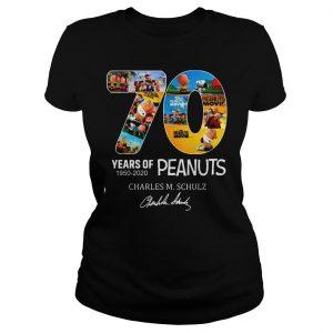 Peanuts Snoopy 70th Anniversary 19502020 shirt Classic Ladies Tee
