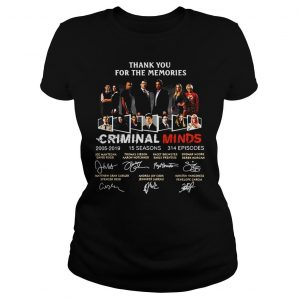 Thank You For The Memories Criminal Minds Signature Shirt Classic Ladies Tee