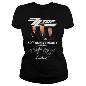 ZZ Top 50th anniversary 1969 2019 shirt Classic Ladies Tee
