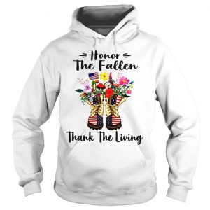 Veteran boots flower honor the fallen thank the living 4th of July independence day shirt Hoodie