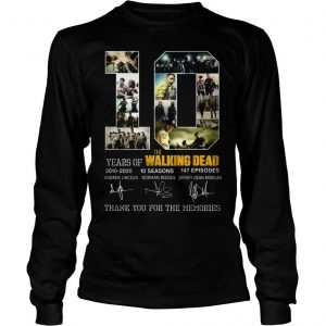 10 years of The Walking Dead thank you for the memories shirt Longsleeve Tee Unisex
