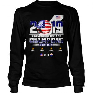 2019 WOMENS WORLD SOCCER CUP CHAMPIONS UNITED STATES 20 SHIRT Longsleeve Tee Unisex