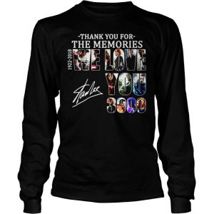 Thank you for the memories 19222018 we love you 3000 Stan Lee shirt Longsleeve Tee Unisex