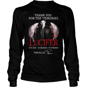 Thank you for the memories Lucifer 20162020 04 seasons 67 episodes signature shirt Longsleeve Tee Unisex