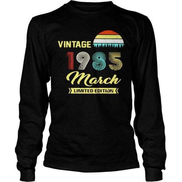 Vintage 1985 March Shirt Longsleeve Tee Unisex