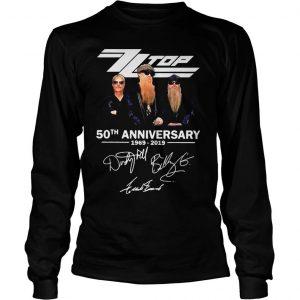 ZZ Top 50th anniversary 1969 2019 shirt Longsleeve Tee Unisex