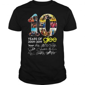 10 years of Glee 2009 2019 shirt