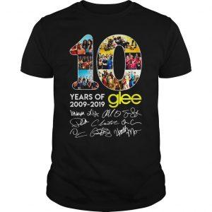 10 years of Glee 2009 2019 shirt