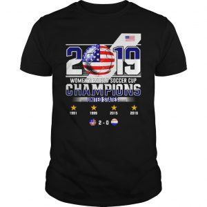 2019 WOMENS WORLD SOCCER CUP CHAMPIONS UNITED STATES 20 SHIRT