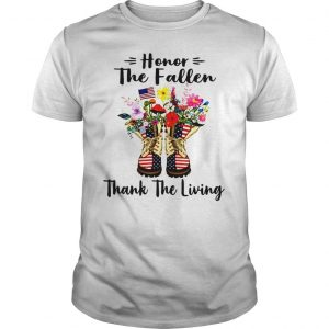 Veteran boots flower honor the fallen thank the living 4th of July independence day shirt
