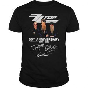 ZZ Top 50th anniversary 1969 2019 shirt