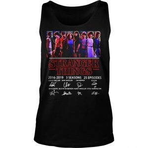 Thank You For The Memories Stranger Things 2016 2019 Shirt TankTop