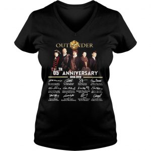 05th Anniversary Outlander Signature Shirt Ladies V-Neck