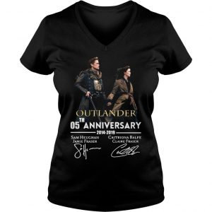 05th anniversary outlander shirt Ladies V-Neck