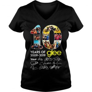 10 years of Glee 2009 2019 shirt Ladies V-Neck