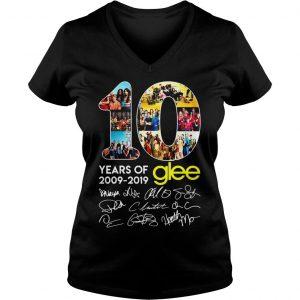10 years of Glee 2009 2019 shirt Ladies V-Neck