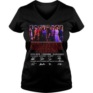 Thank You For The Memories Stranger Things 2016 2019 Shirt Ladies V-Neck