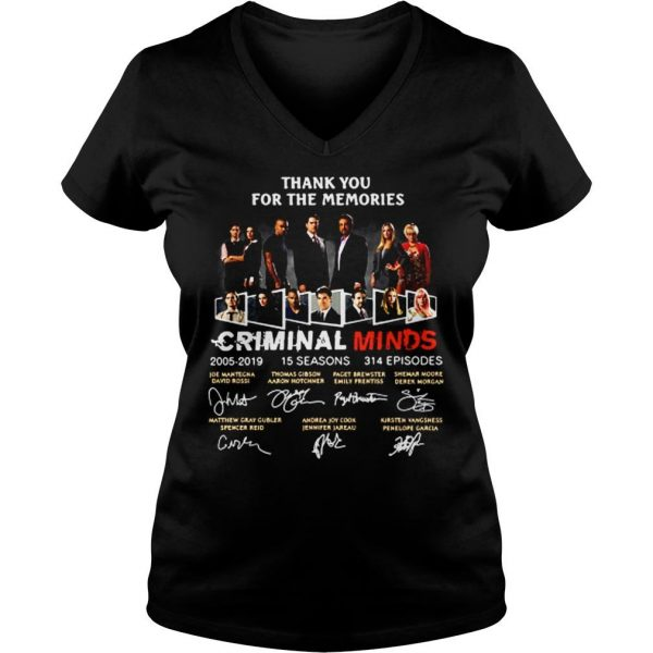 Thank you for the memories Criminal minds signature shirt Ladies V-Neck