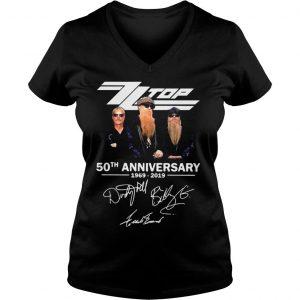 ZZ Top 50th anniversary 1969 2019 shirt Ladies V-Neck