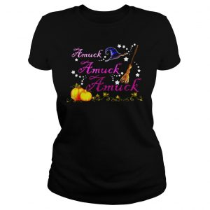 AMUCK AMUCK AMUCK WITCH HALLOWEEN SHIRT Classic Ladies Tee
