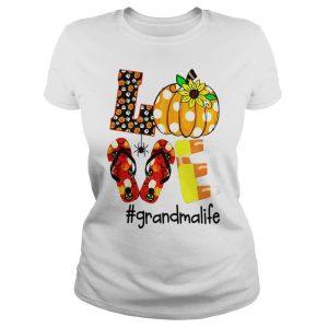 HALLOWEEN SUNFLOWER LOVE GRANDMA LIFE SHIRT Classic Ladies Tee