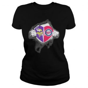 Vikings Twins Its in my heart inside me shirt Classic Ladies Tee