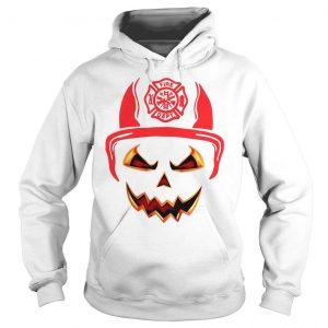 Halloween Pumpkin Firefighter Fireman Fire shirt Hoodie