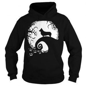 Pembroke Welsh Corgi in the midnight moon Halloween shirt Hoodie