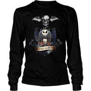 Jack Skellington Avenged Sevenfold shirt Longsleeve Tee Unisex