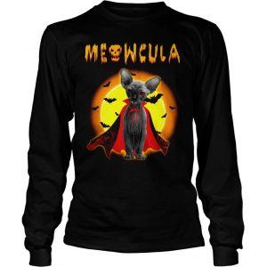 Sphynx Meowcula Sphynx Cats Halloween Shirt Longsleeve Tee Unisex