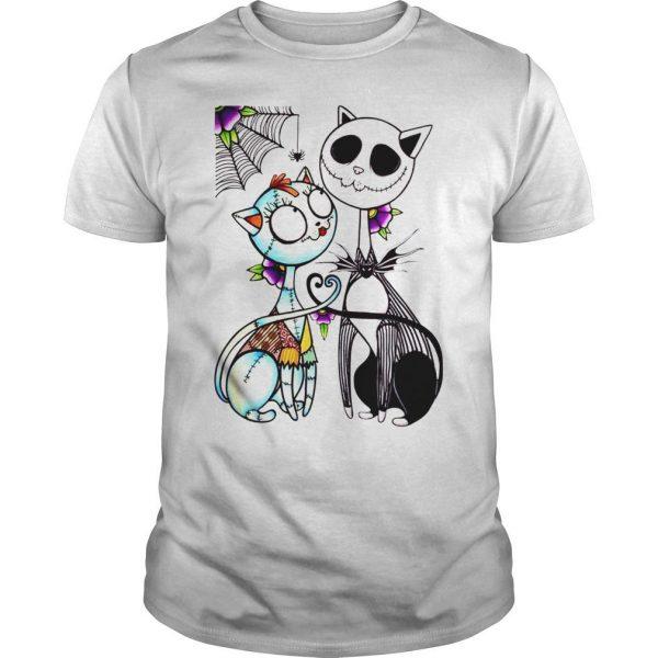 Jack Skellington and Sally cat shirt