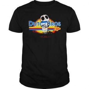 Jack Skellington hugging Dutch Bros coffee shirt