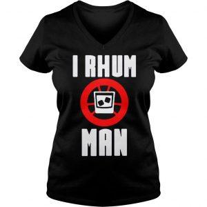 I rhum man shirt Ladies V-Neck