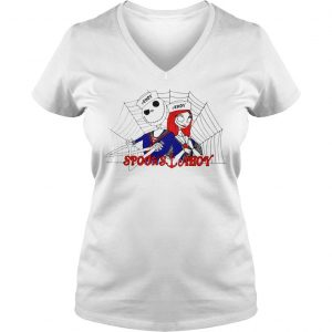 Jack Skellington and Sally Spooks Ahoy shirt Ladies V-Neck
