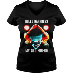 Pennywise Hello Darkness My Old Friend shirt Ladies V-Neck