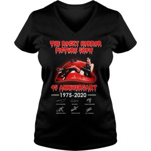 The rocky horror picture show 45 anniversary shirt Ladies V-Neck