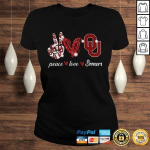 Peace love Oklahoma Sooners shirt Classic Ladies Tee