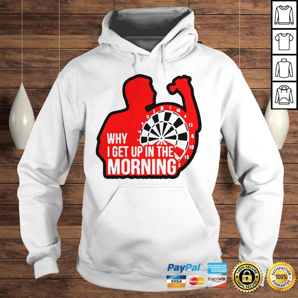Darts why i get up in the morning shirt Hoodie