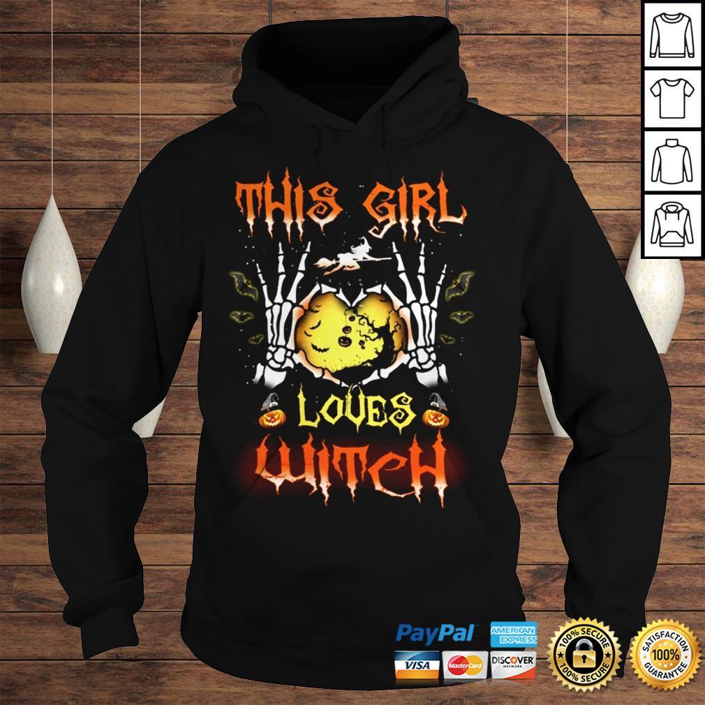 Halloween Shirt Halloween This Girl Love Witch shirt Hoodie